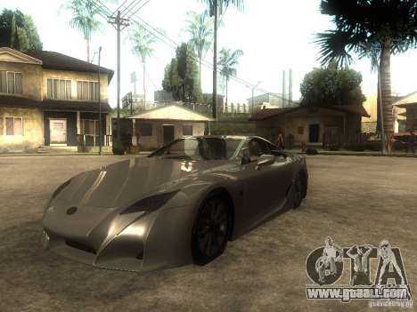 Lexus LFA Custom for GTA San Andreas