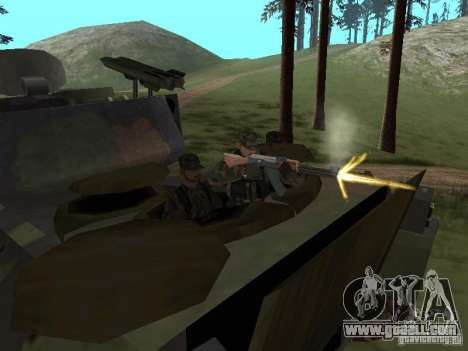 M2A3 Bradley for GTA San Andreas inner view