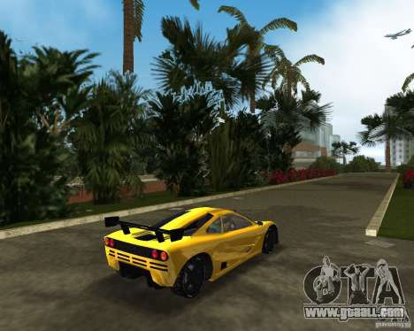 McLaren F1 LM for GTA Vice City back left view