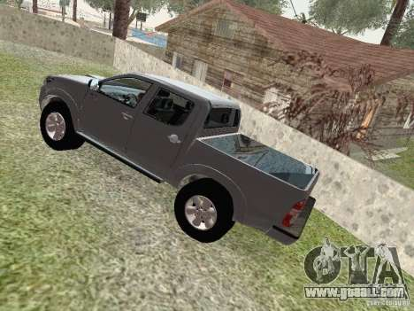 Toyota Hilux for GTA San Andreas back view