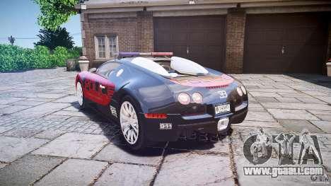Bugatti Veyron 16.4 Police [EPM/ELS] for GTA 4 back left view