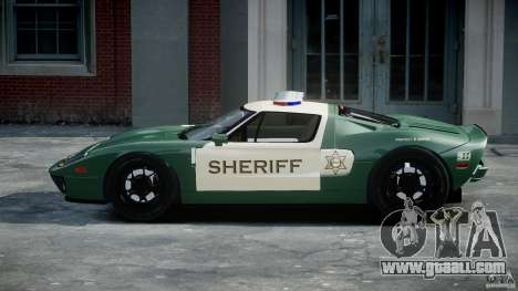 Ford GT1000 Hennessey Police 2006 [EPM][ELS] for GTA 4 inner view