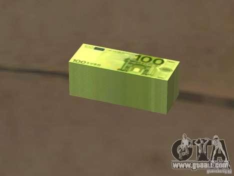 Euro money mod v 1.5 100 euros I for GTA San Andreas