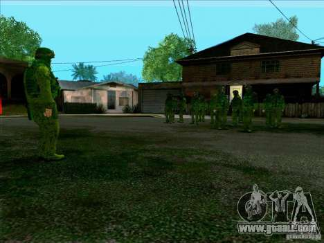 Morpeh forest camouflage for GTA San Andreas fifth screenshot