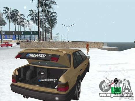 Volkswagen Passat B3 for GTA San Andreas upper view