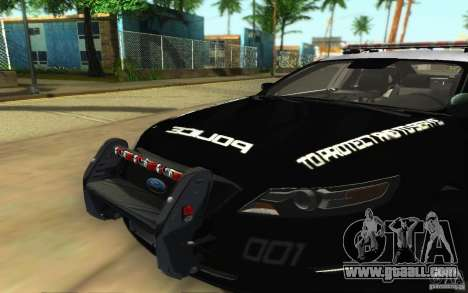 Ford Taurus 2011 LAPD Police for GTA San Andreas inner view
