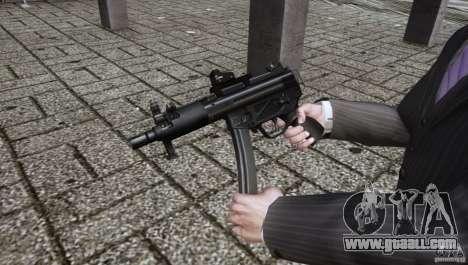 H&K MP5k for GTA 4 second screenshot
