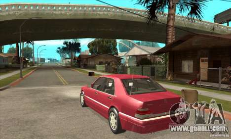 Mercedes-Benz S600 1999 for GTA San Andreas right view