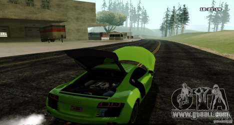 Audi R8 Light Tuned Version for GTA San Andreas back left view
