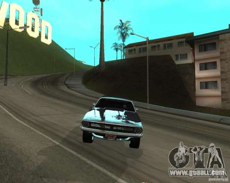 1970 Plymouth Baracuda for GTA San Andreas back left view
