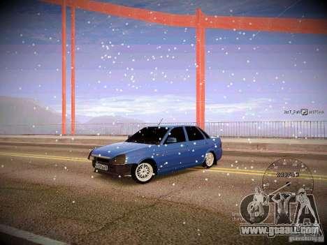 Lada Priora Turbo v2.0 for GTA San Andreas back left view