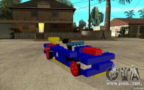 LEGO car for GTA San Andreas back view