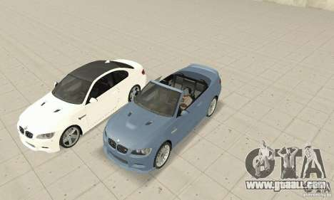 BMW M3 2008 for GTA San Andreas back left view
