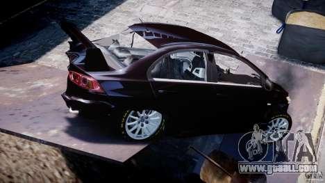 Mitsubishi Lancer X for GTA 4 interior
