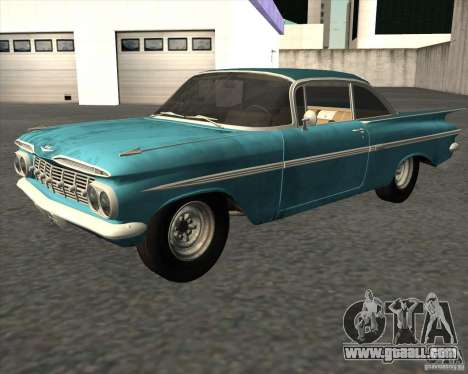Chevrolet Impala Coupe 1959 Used for GTA San Andreas