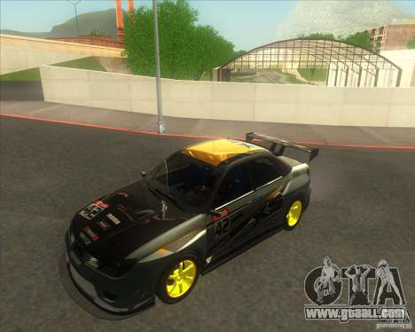 Subaru Impreza STi tuned for GTA San Andreas right view