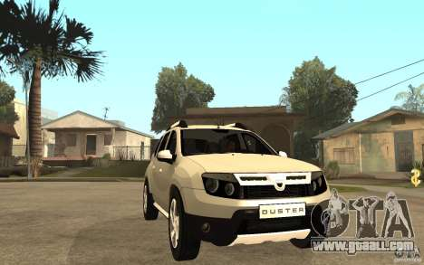 Dacia Duster 2010 SUV 4x4 for GTA San Andreas back view