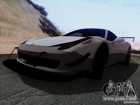 Ferrari 458 Italia Tuned for GTA San Andreas back view