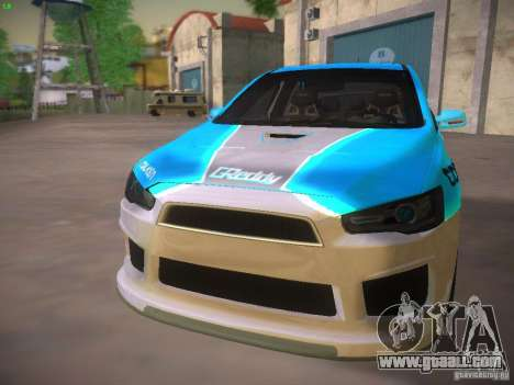 Mitsubishi Lancer Evo X Tunable for GTA San Andreas wheels