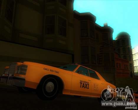 Ford Custom 500 4 door taxi 1975 for GTA San Andreas right view