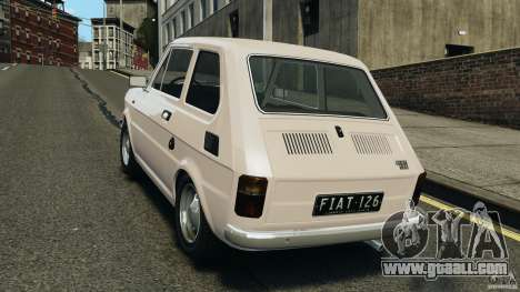 Fiat 126 Classic for GTA 4 back left view