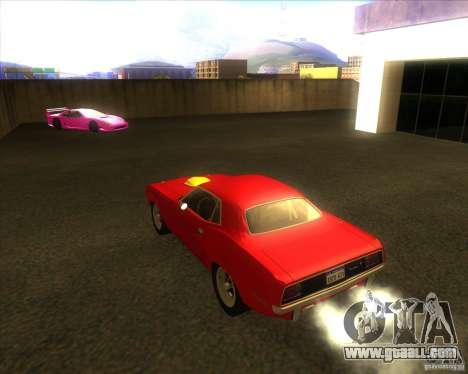Plymouth Hemi Cuda for GTA San Andreas back left view