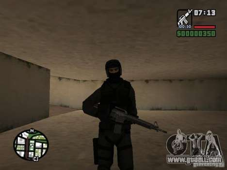 Umbrella soldier for GTA San Andreas forth screenshot