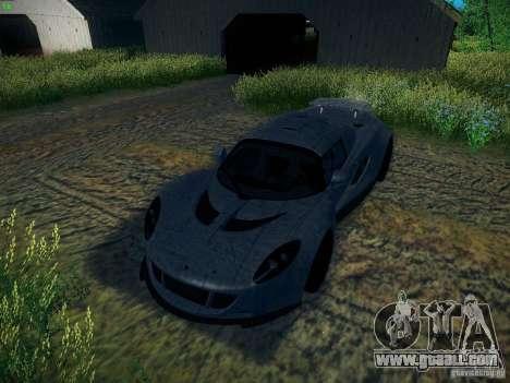 Hennessey Venom GT Spyder for GTA San Andreas interior