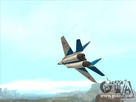 MiG-29 the Swifts for GTA San Andreas inner view
