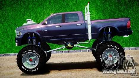 Dodge Ram 3500 2010 Monster Bigfut for GTA 4 left view