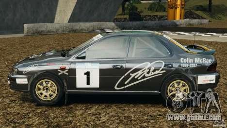 Subaru Impreza WRX STI 1995 Rally version for GTA 4 left view
