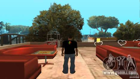 Bob Marley t-shirt for GTA San Andreas second screenshot
