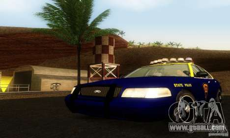 Ford Crown Victoria West Virginia Police for GTA San Andreas