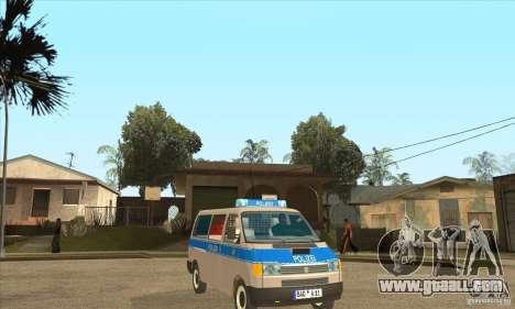 Volkswagen Transporter T4 German Police for GTA San Andreas back view