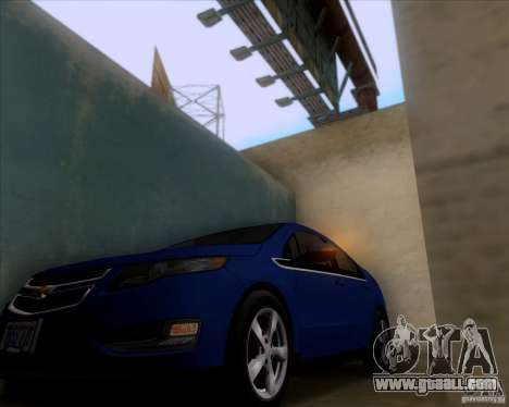 Chevrolet Volt 2012 Stock for GTA San Andreas back view