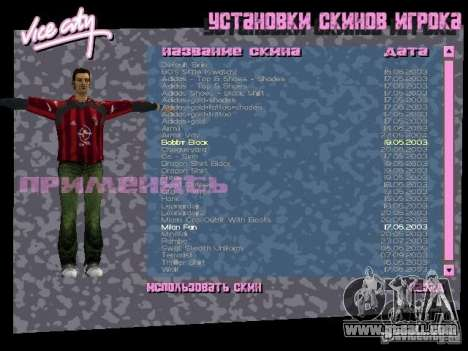 Pack of skins for Tommy for GTA Vice City