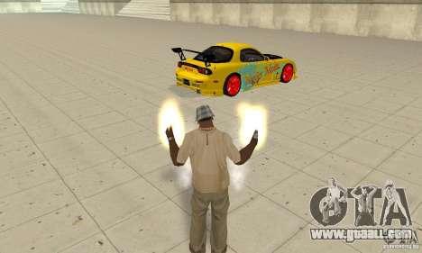 Supernatural ability of CJ-I for GTA San Andreas