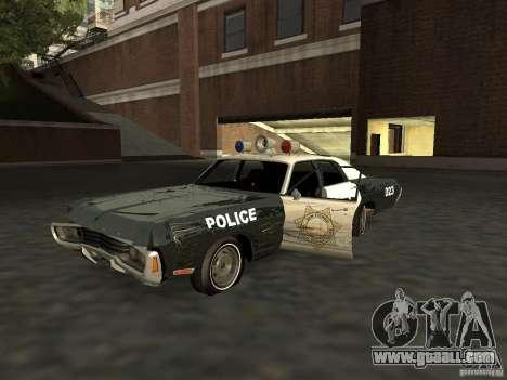 Dodge Polara Police 1971 for GTA San Andreas inner view