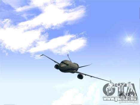 Boeing 737 Iron Man Bussines Jet for GTA San Andreas right view