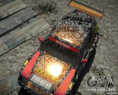 Mitsubishi Pajero Proto Dakar EK86 vinyl 1 for GTA 4 side view