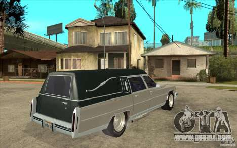 Cadillac Fleetwood 1985 Hearse Tuned for GTA San Andreas right view