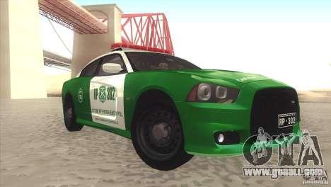 Dodge Charger SRT8 Carabineros for GTA San Andreas