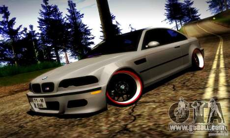 BMW M3 JDM Tuning for GTA San Andreas upper view