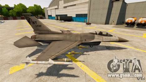 F-16C Fighting Falcon for GTA 4 left view