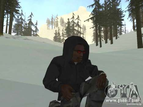 Sweatshirt with hood for GTA San Andreas third screenshot