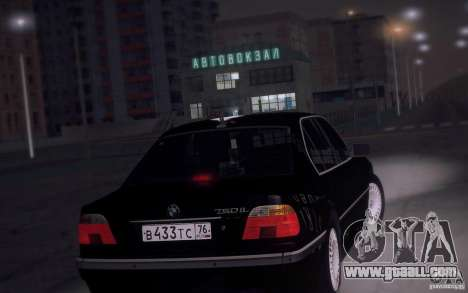 BMW 750i E38 2001 for GTA San Andreas back left view
