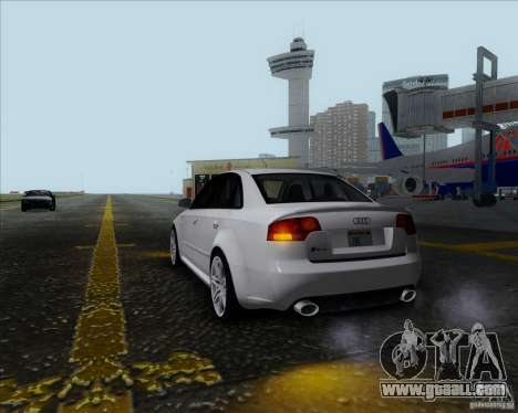 Audi RS4 for GTA San Andreas back view
