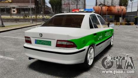Iran Khodro Samand LX Police for GTA 4