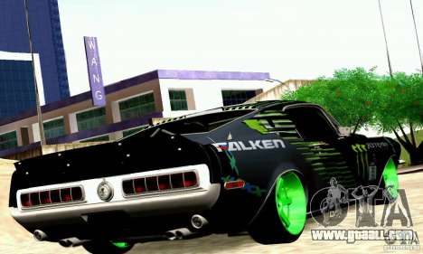 Shelby GT500 Monster Drift for GTA San Andreas right view