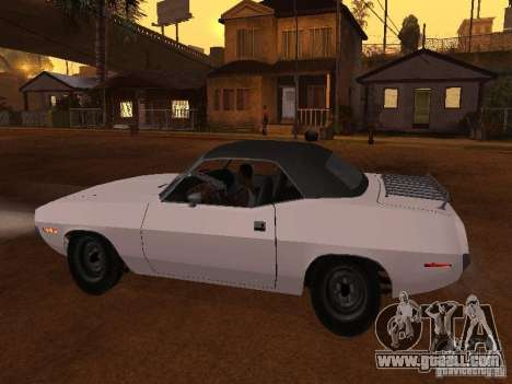 Plymouth Barracuda Rag Top 1970 for GTA San Andreas left view